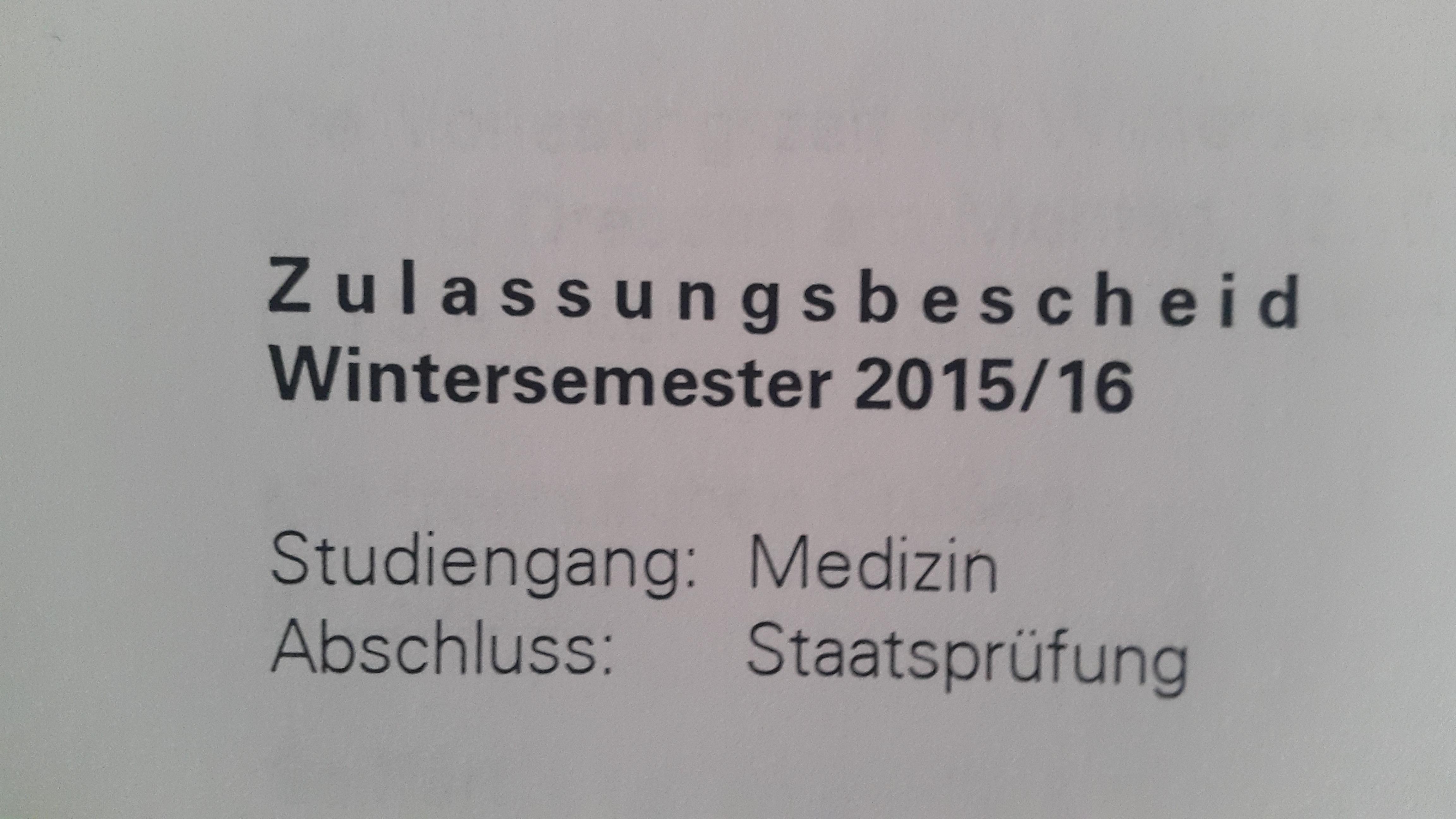 wann kommen die zulassungen fr hhere semester medizin - Uni Dsseldorf Bewerbung