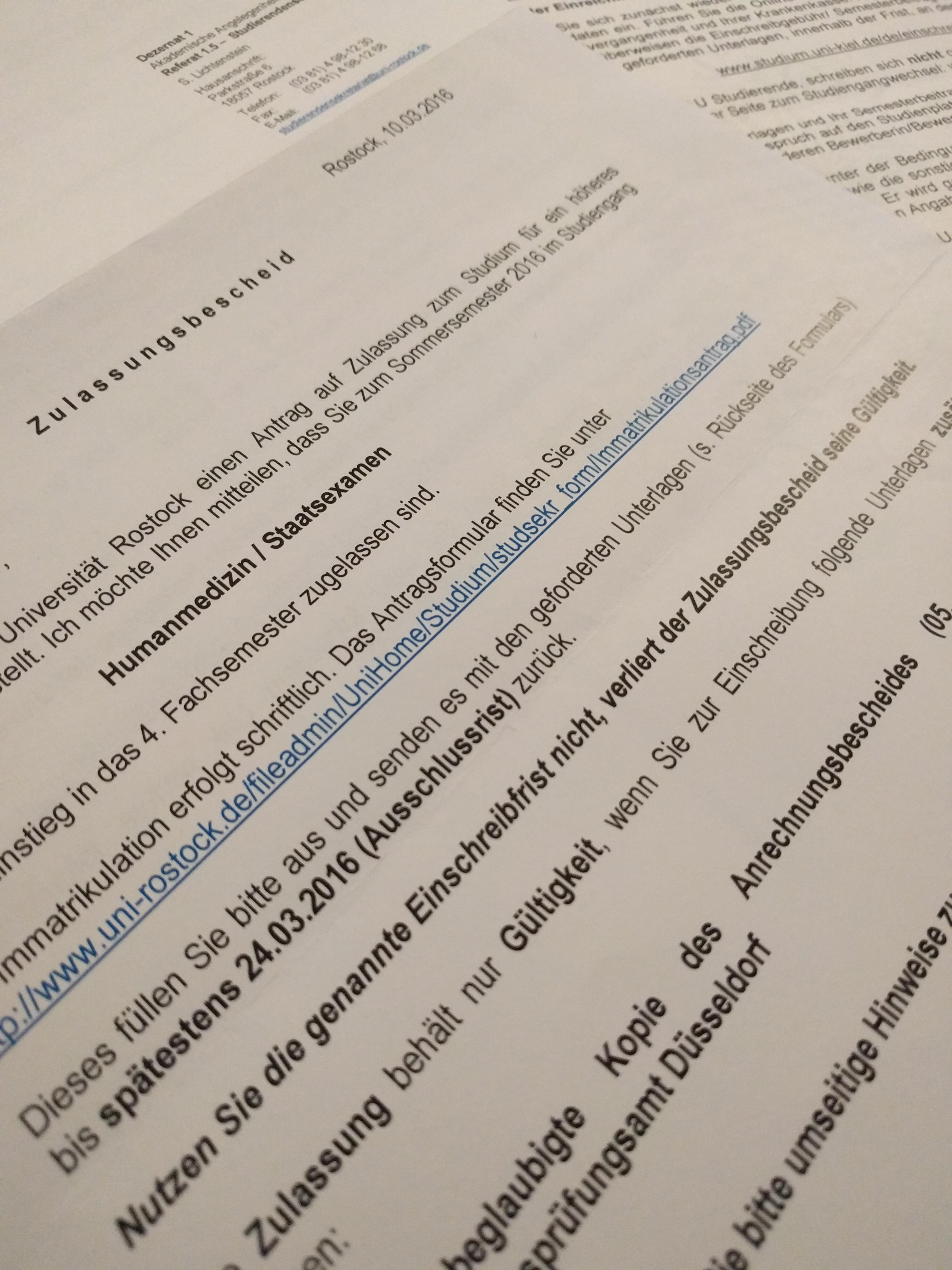 wann kommen die zulassungen fr hhere semester medizin - Dusseldorf Uni Bewerbung